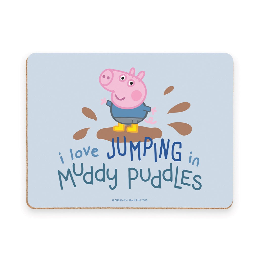 George Muddy Puddles Placemat