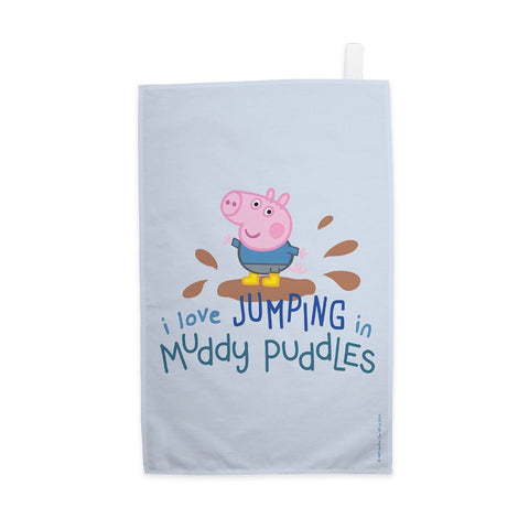 George Muddy Puddles Tea Towel