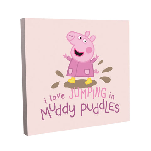 Peppa Muddy Puddles Canvas (40x40cm)