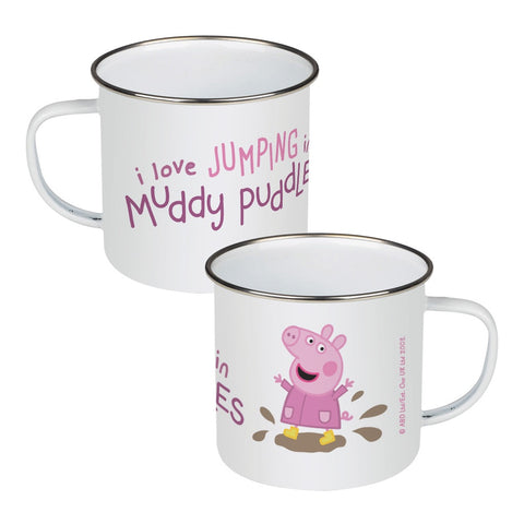 Peppa Muddy Puddles Enamel Mug