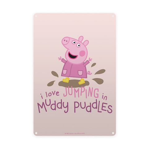 Peppa Muddy Puddles Metal Sign
