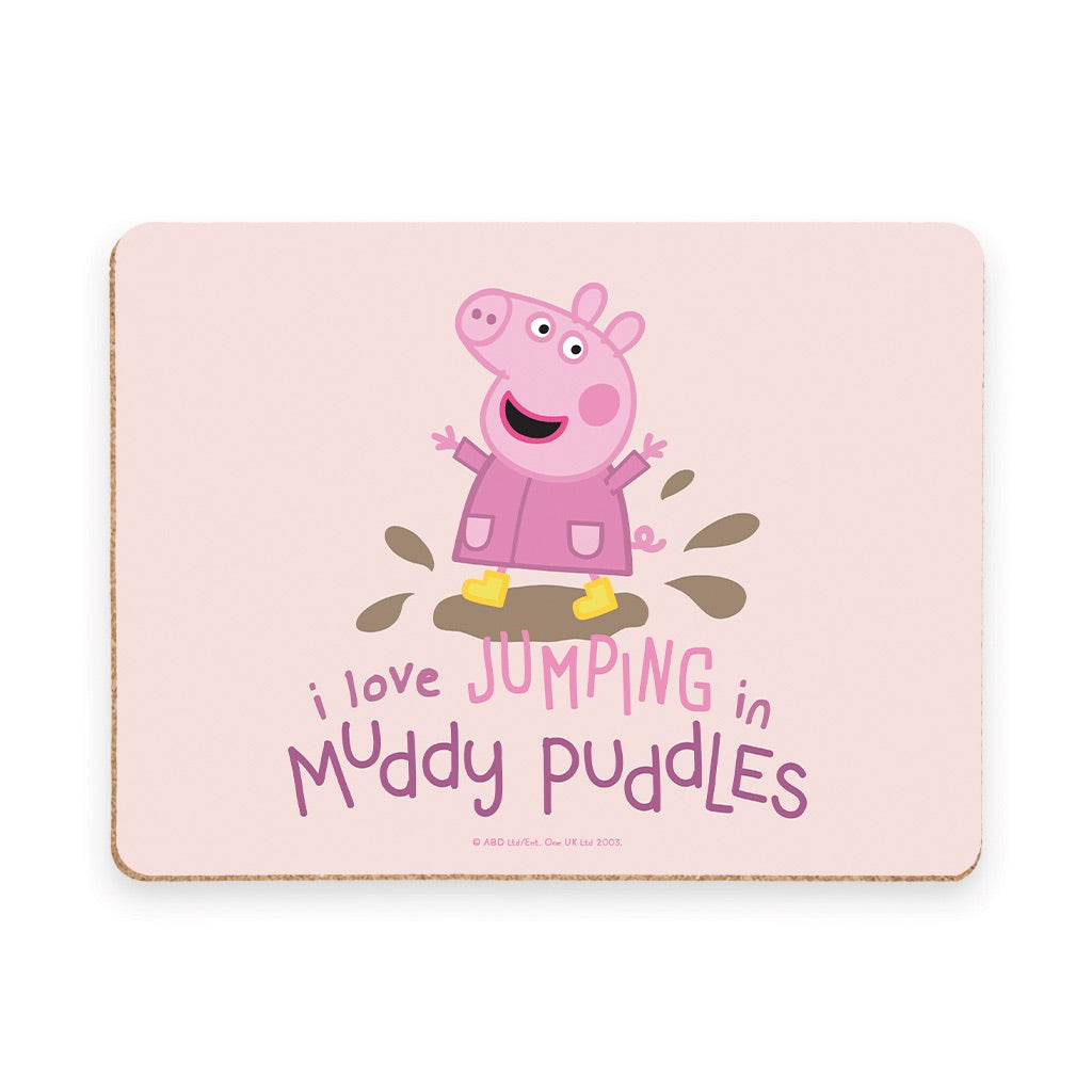 Peppa Muddy Puddles Placemat
