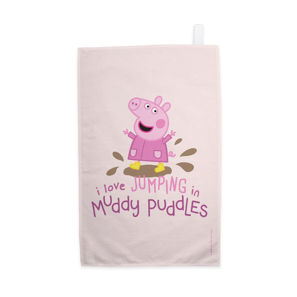 Peppa Muddy Puddles Tea Towel
