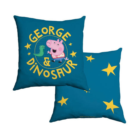 George and Dinosaur Cotton Cushion