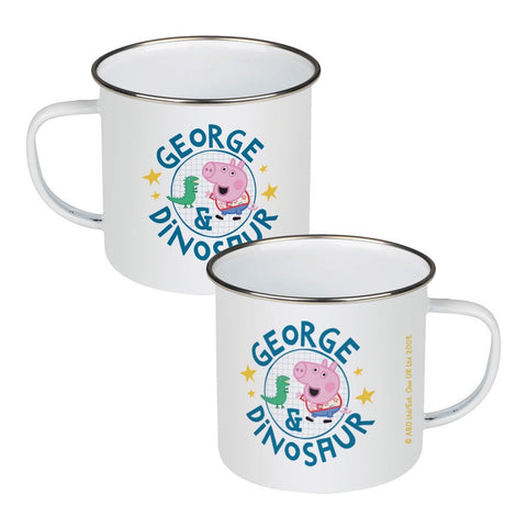George and Dinosaur Enamel Mug