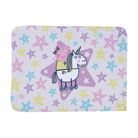 Peppa and Unicorn Baby Blanket
