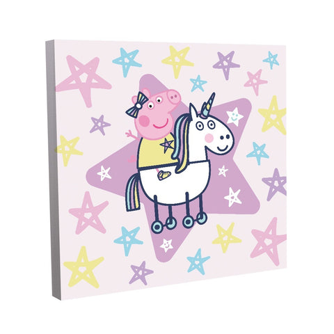 Peppa and Unicorn Canvas (40x40cm)