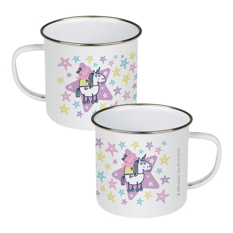 Peppa and Unicorn Enamel Mug