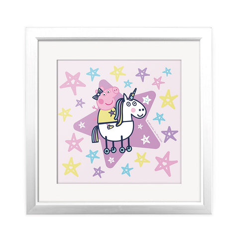 Peppa and Unicorn Square Art Print Square Art Print