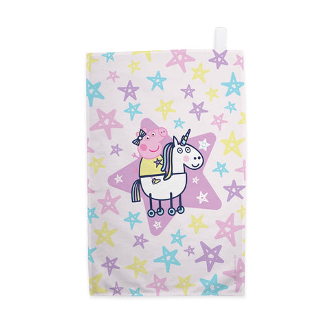 Peppa and Unicorn Tea Towel