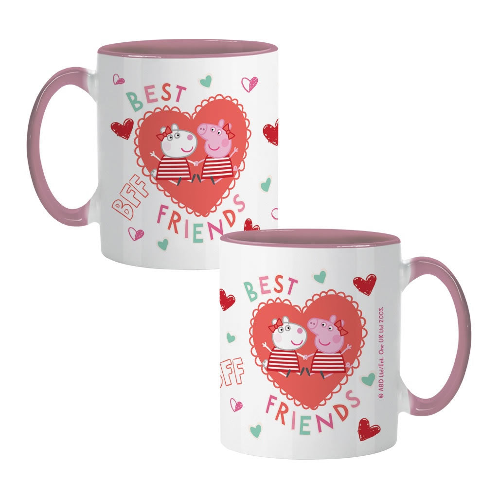 Best Friends Love Hearts Coloured Insert Mug