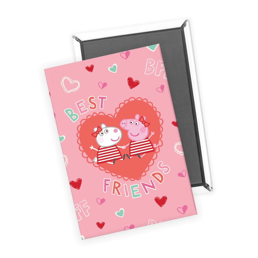 Best Friends Love Hearts Magnet