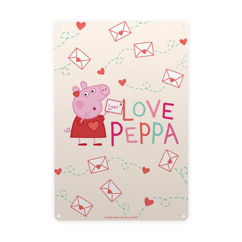 Love Peppa Metal Sign