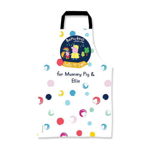 Rainy Days Mummy Pig Personalised Apron