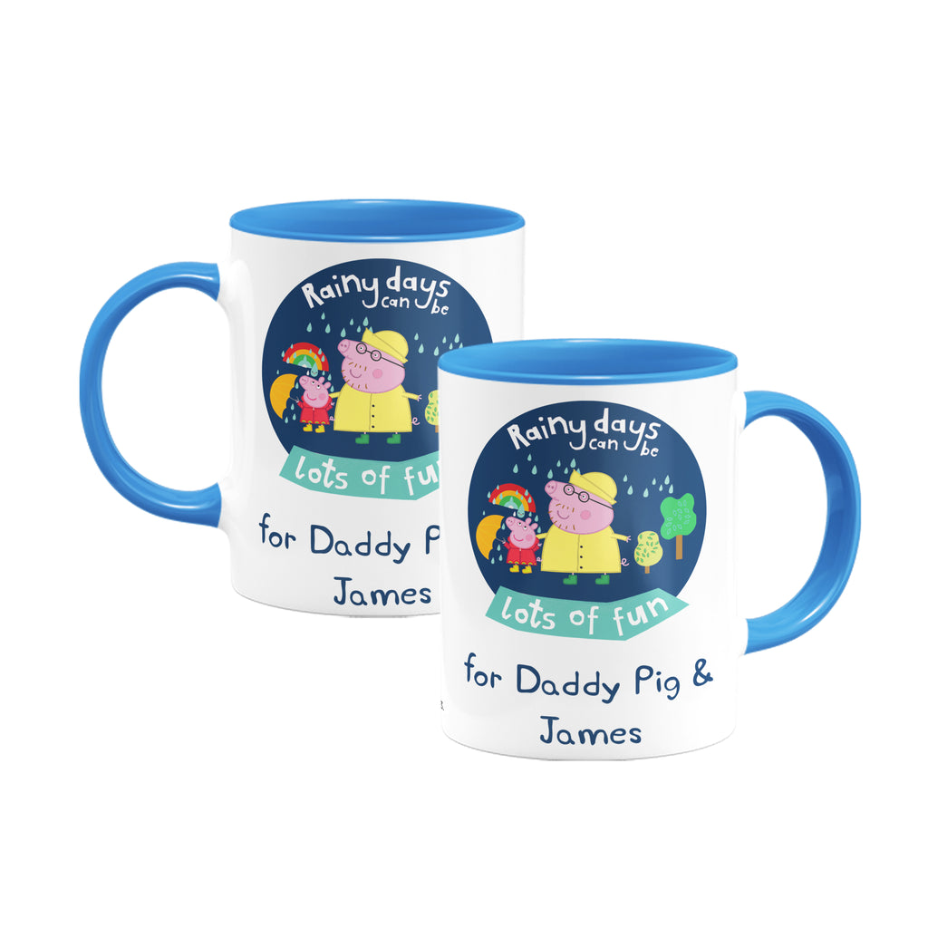 Rainy Days Daddy Pig Coloured Insert Mug