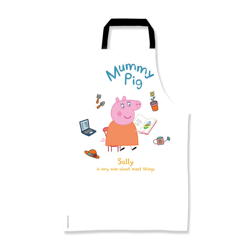 Very Wise Mummy Pig Personalised Apron