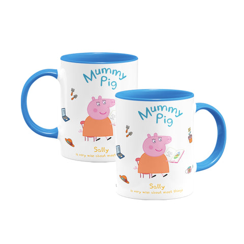Very Wise Mummy Pig Coloured Insert Mug