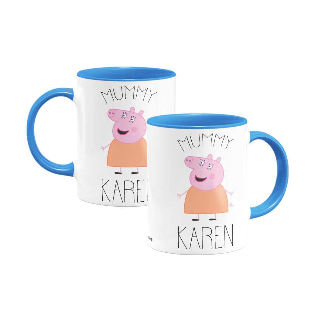 Mummy Pig Coloured Insert Mug