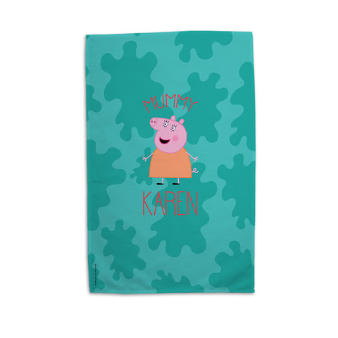 Mummy Pig Personalised Tea Towel