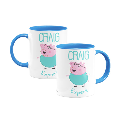 Expert Daddy Pig Coloured Insert Mug