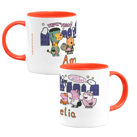 Trick or Treat Personalised Coloured Insert Mug