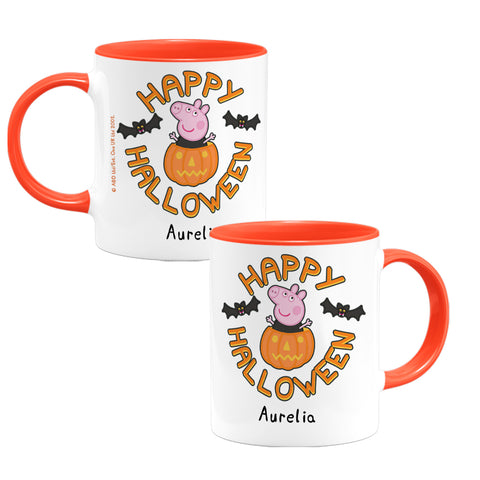 Happy Halloween Pumpkin Personalised Coloured Insert Mug