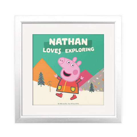 Loves Exploring Square Art Print Personalised Square Art Print
