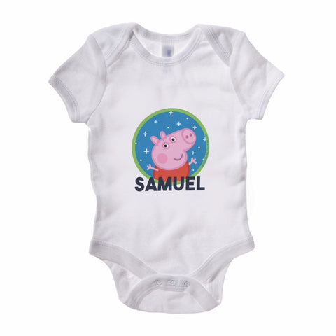 Space George Baby Grow Personalised Baby Grow