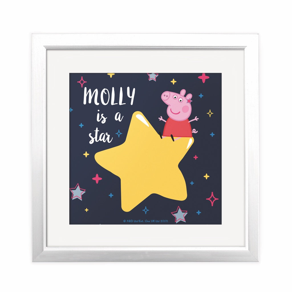 ...is a Star Square Art Print Personalised Square Art Print