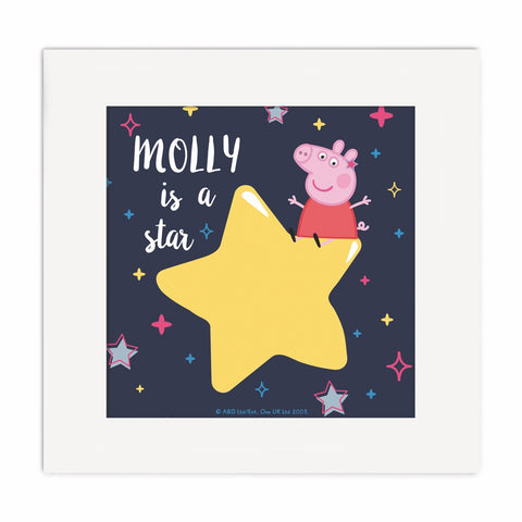 ...is a Star Square Art Print Personalised Square Art Print 2