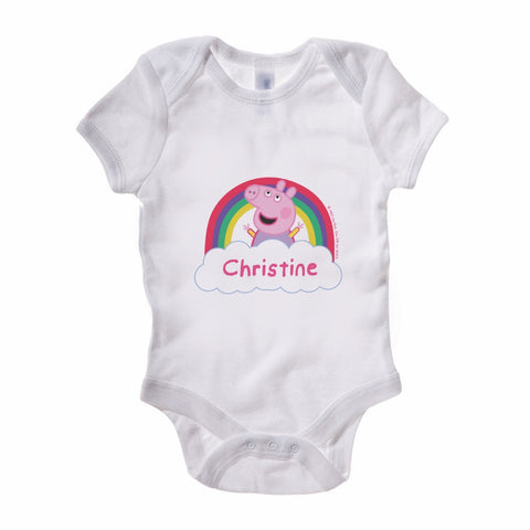 Rainbow Cloud Baby Grow Personalised Baby Grow