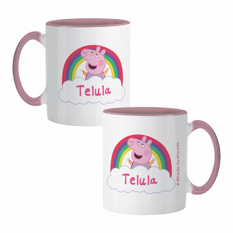 Rainbow Cloud Coloured Insert Mug