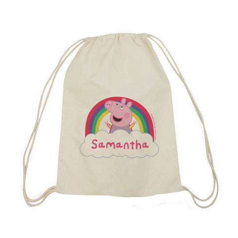 Rainbow Cloud Drawstring Bag