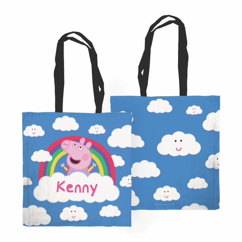 Rainbow Cloud Edge to Edge Tote Bag