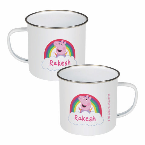 Rainbow Cloud Enamel Mug