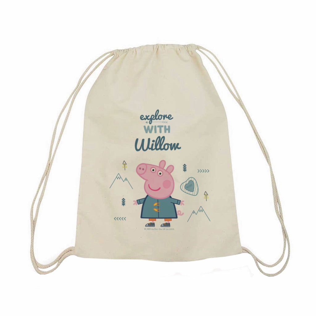 Explore With... Drawstring Bag