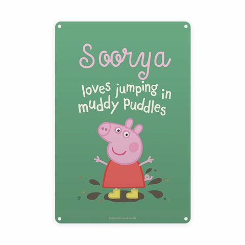 Muddy Puddles Metal Sign