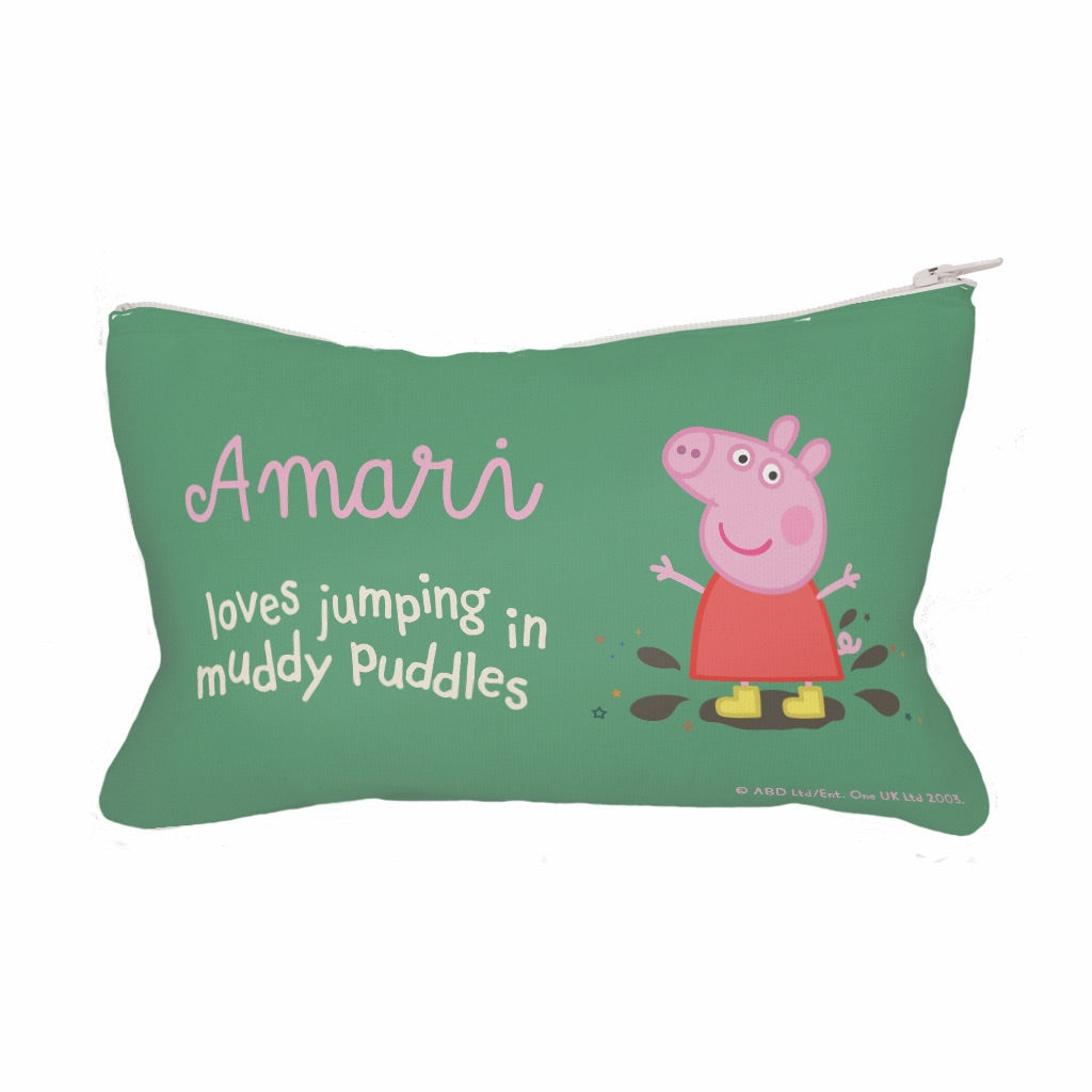 Muddy Puddles Fabric Pencil Case