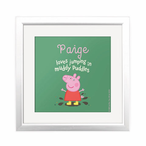 Muddy Puddles Square Art Print Personalised Square Art Print