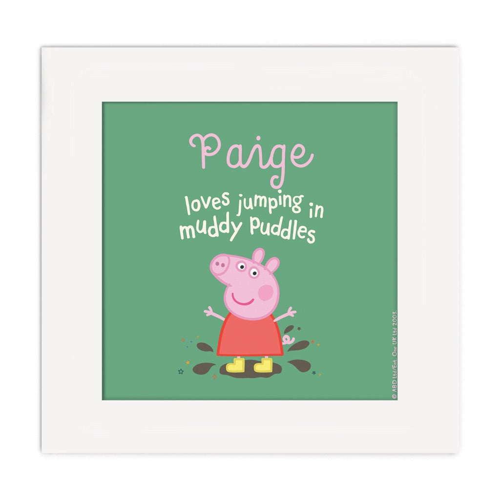 Muddy Puddles Square Art Print