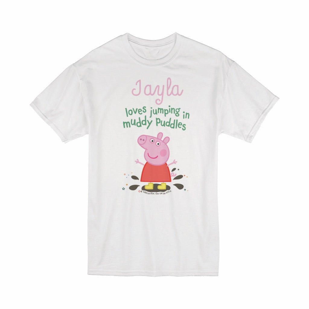 Muddy Puddles T-Shirt Personalised T-Shirt