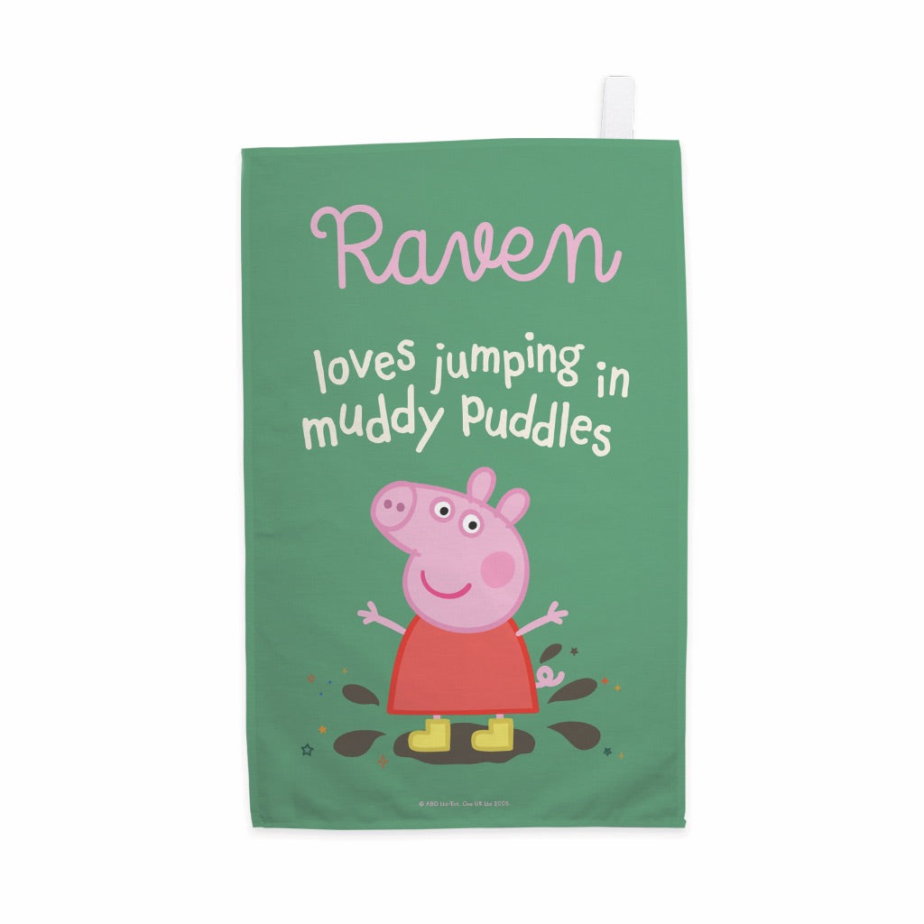 Muddy Puddles Tea Towel