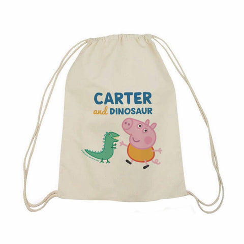 ...and Dinosaur Drawstring Bag