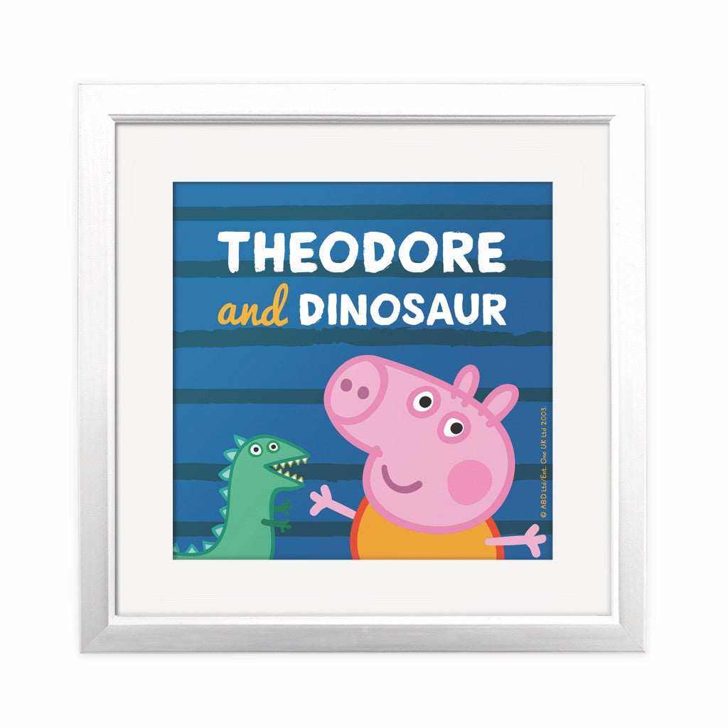 ...and Dinosaur Square Art Print Personalised Square Art Print