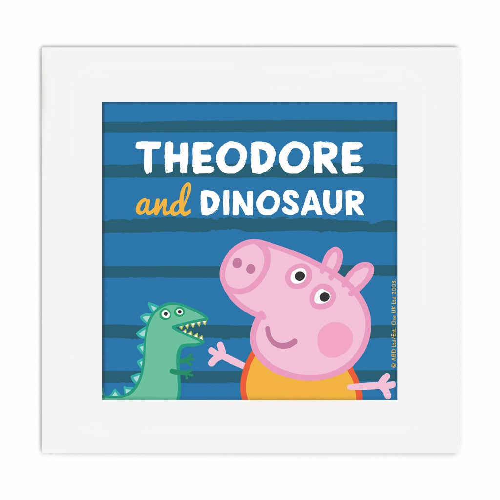 ...and Dinosaur Square Art Print Personalised Square Art Print 2