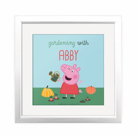 Gardening With... Square Art Print Personalised Square Art Print