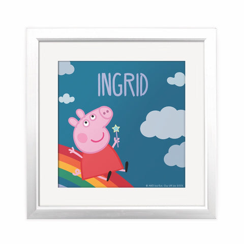 Rainbow Slide Square Art Print Personalised Square Art Print