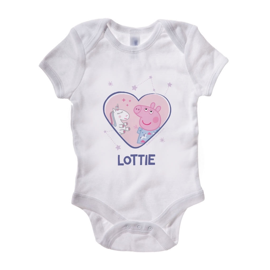 Unicorn Dreams Baby Grow Personalised Baby Grow