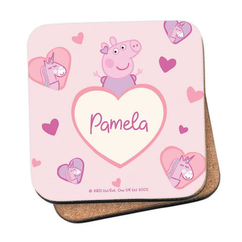 Unicorn Hearts Coaster