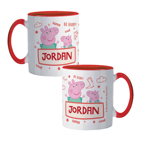 Peppa and George Coloured Insert Mug